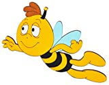 Unbekannt Türschild / Wandbild / Wandtattoo - Willi Fliegt / die Biene Maja - aus Holz - Selbstklebend - Kinderzimmer Deko Bilder / Aufkleber Wandsticker Wanddeko