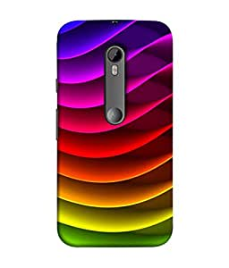 Motorola Moto G (Gen 3), Motorola Moto G (3rd gen), Motorola Moto G3 Back Cover, Motorola Moto G3 Back Case Colorful Twisted Stripe Design From Printvisa