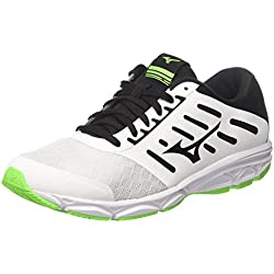 Mizuno Ezrun, Zapatillas de Running para Hombre, Multicolor (White/Black/Greengecko 09), 43 EU