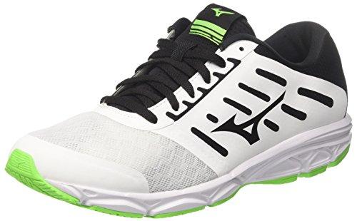 Mizuno Ezrun, Scarpe da Running Uomo, Bianco (White/Black/Greengecko), 43 EU