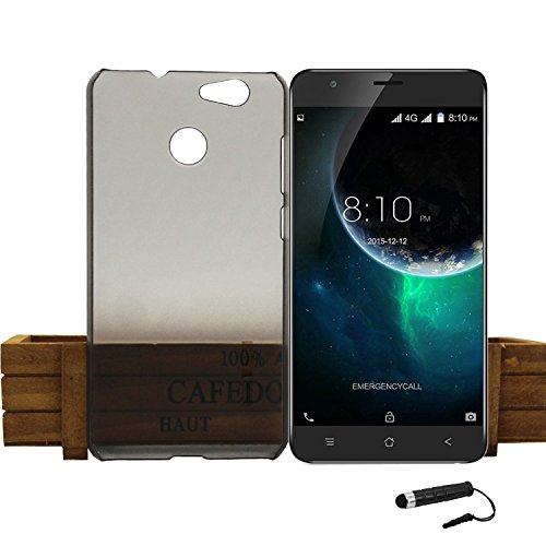 Tasche für Blackview E7 Hülle, Ycloud Handy Backcover Kunststoff-Hard Shell Case Handyhülle mit stoßfeste Schutzhülle Smartphone Grau