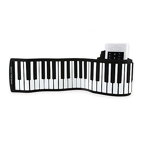 Preisvergleich Produktbild LeaningTech PB88 88 wichtige Roll-Up-Klavier mit Akkus Mikrofon White EU