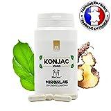 KONJAC complément minceur 530mg / gélule | 95% de glucomannanes | 90 gélules | Idéal pour perdre du poids naturellement | Fabriqué en France