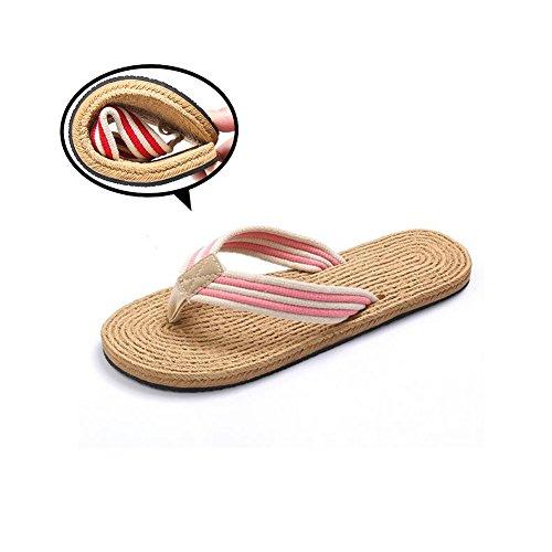 flip-folps-slippers-unisexnon-slip-double-eva-tread-footwear-cotton-oxford-stripe-strap-thong-open-t