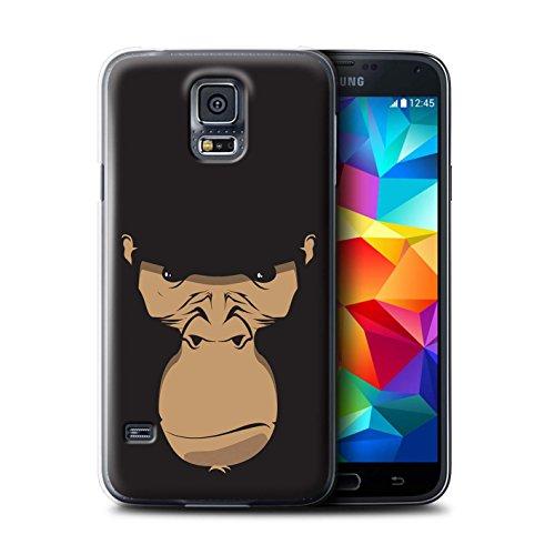 iCHOOSE Hülle / Hülle für Apple iPhone 4/4S / harter Plastikfall für Telefon / Collection Schnauzen / Hund / Bulldog Gorilla / Schimpanse / Affe