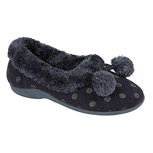 Sleepers - Babbucce Invernali Memory Foam Fantasia a Pois - Donna Rosa