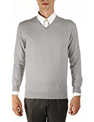Bruce Field - Pull homme col V 100% laine Mérinos extra fine - Modèle 4313