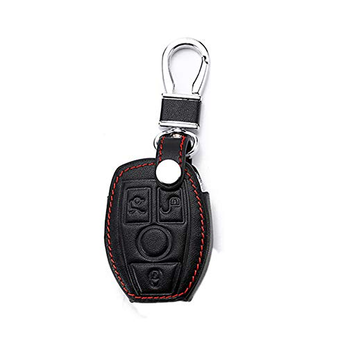 Happyit Leather Car Key Case Cover Keychain for Mercedes for sale  Delivered anywhere in UK