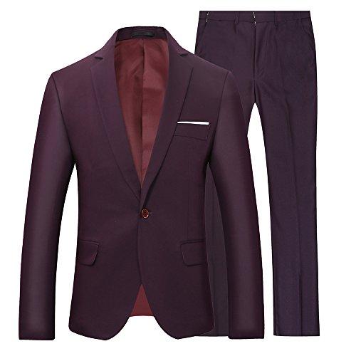 Abiti uomo vestiti scuri/blu per gli uomini a 2 pezzi si adatta allo stile classico