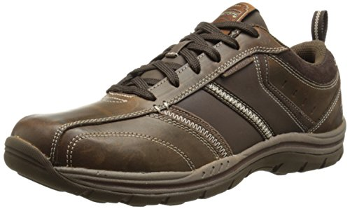 Skechers Expected Devention, Oxford Homme Marrón (Marrón (ACDB))