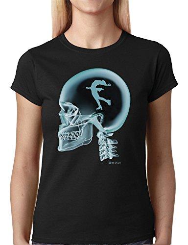 Figure Skating patinaje artistico en el cerebro X-Ray para mujer camiseta T-Shirt