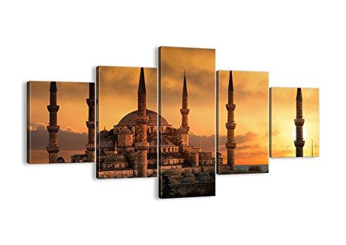Bild auf Leinwand - Leinwandbilder - fünf Teile - Breite: 125cm, Höhe: 70cm - Bildnummer 2846 - fünfteilig - mehrteilig - zum Aufhängen bereit - Bilder - Kunstdruck - EA125x70-2846