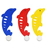 STOBOK 3pcs Kinder Unterwasser Tauchen Spielzeug Tauchbälle in Delphin Form (Rot Gelb Blau)
