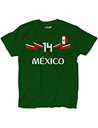 KiarenzaFD Camiseta Camiseta Fútbol Selección Chicharito Mexico Hernandez 14, KTS01918-L-Verde-