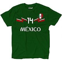 KiarenzaFD Camiseta Camiseta Fútbol Selección Chicharito Mexico Hernandez 14, KTS01918-M-Verde-