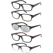 Eyekepper Gafas de lectura retro 5-pack con bisagras de resorte gafas de sol de lectura incluido +0.5