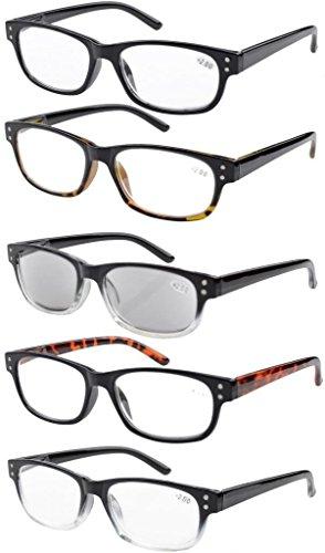Eyekepper 5-pack Federscharniere Jahrgang Lesebrille Inklusive Sonnenbrillen Leser +2.00