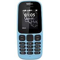Nokia 105 Mobiltelefon (1,8 Zoll Farbdisplay, FM Radio, 4 MB ROM, Dual-Sim) blau, version 2017