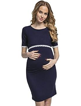 Happy Mama. Donna Vestito prémaman l'allattamento Abito Dettagli In Pizzo.064p