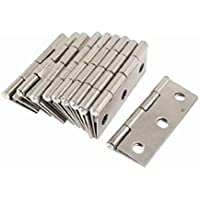 PIXNOR Edelstahl Scharniere Steckverbinder für Fenster Schrank - 10ST (Silber)