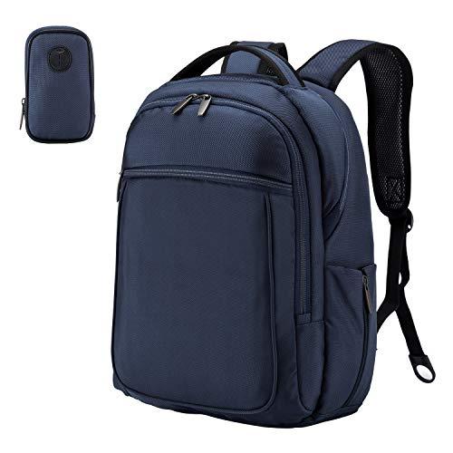 """Wemk Laptop-Rucksack, Business-Rucksack, Computer-Rucksack für Reisen für Männer und Frauen, Wasserresistenter Schul-/Uni-Rucksack mit Kleiner Tasche, für 15"""" Laptop - Blau"""