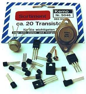"""Sortiment""""Transistoren"""" T03-T092 mit Datenblättern 20St"""