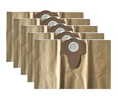 5 Staubsaugerbeutel / Schmutzfangsack / Staubbeutel passend für EINHELL Nass Trocken Sauger 20 Liter