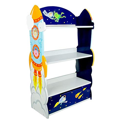 LXSG Kinderzimmer Bücherregal, Baby Schlafzimmer Spielzeug Schrank, einfache Schlafzimmer Storage Rack-62cm * 29cm * 102cm -