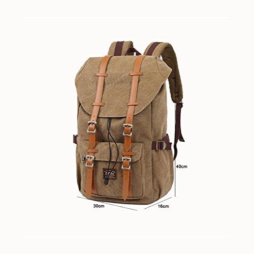 Backpack Zaino da portare / scuola / 20L di tela di canapa trasportabile dello Rucksack, Daypack , Black Black