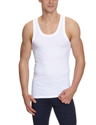 HOM Herren Unterhemd 2 er Pack 10119924 Pure Cotton Marcel Shirt 02 2P WHITE - LIGHT COMBINATION   M015
