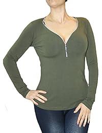 S bis L Grün breites Bund unten Naketano Shirt Kurzarm Damen