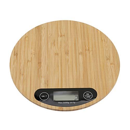 Especificación:  Condición: 100% nuevo  Material: Bambú + ABS  Color marrón  Tamaño: aprox. 20 * 20 * 2 cm / 7.87 * 7.87 * 0.78in  Peso aproximado. 288 g / 10.15 oz  Batería: 2 * Batería AAA (No incluye batería)   Paquete incluido:  1 * Báscula de co...