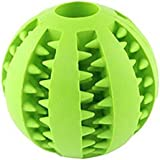 Hosaire 1 Pieza Juguete De Goma Masticar Mascotas Squeaker Squeeze Pet Ball Juguetes Bola Interactiva para Mascotas Perros Masticar Jugar Traning Ejercicio (Verde)