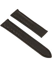 Maurice Lacroix Pontos Elegant Ersatzband für Klemmschließe Leder schwarz ohne Emblem 26076, Stegbreite:20mm