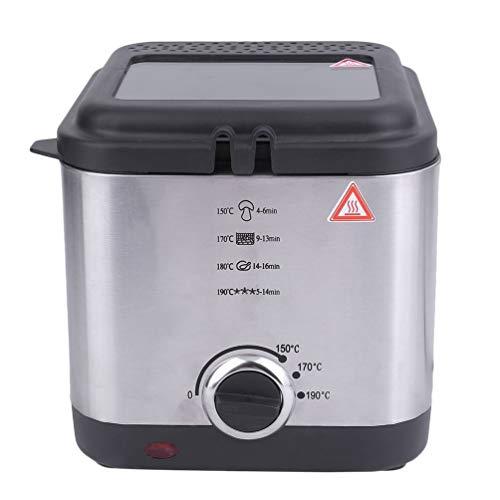 Hehilark Utensile da Cucina per friggitrice a Grasso Profondo Antiaderente per friggere a Olio con cestello Compatto da 1,5 W da 900 W