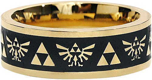 The Legend of Zelda Ring Gold Engraved Gold-XL