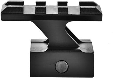 Dilwe Rails Haute Riser Alliage D'aluminium D'aluminium D'aluminium Monter Gamme pour Rails Adaptateur Base 20mm Picatinny Noir | Outlet Online Store  e653ff