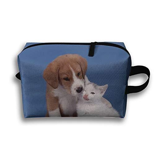 Borsa da viaggio per articoli da toeletta per cani, cuccioli, gatti, gatti, simpatici animali domestici, monete, cosmetici, borsa organizer multifunzione