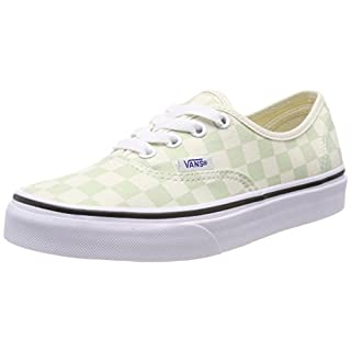 Vans Women's Authentic Trainers, Green (Checkerboard) Ambrosia/Classic White Q8j, 8 UK 42 EU