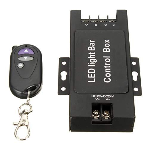 12-24V LED-Lichtleiste Batteriesteuergerät mit drahtloser Fernbedienung Blitzsteuerung für Arbeitslampe 7 Blinkmodi, schwarz (Road Led Strobe Off Lichtleiste)