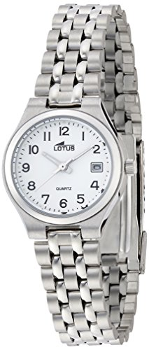 Lotus Women's Quartz Watch with White Dial Analogue Display and Silver Stainless Steel 15032 / 2