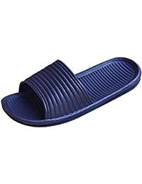 Sandalias para hombre, RETUROM Sandalias del verano de los flip-flops del nuevo estilo del estilo para el baño o la playa (40, Negro)