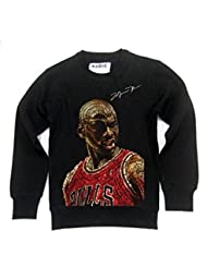Custom Magic-Sudadera de cuello redondo, diseño de michael jordan lettring