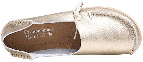 Fangsto  Loafer Flats, Basses femme Sty-1 Gold