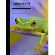 Frog Composition Notebook - Graph Paper, 4x4 Grid: 7.44 x 9.69 - 101 Sheet / 202 Pages