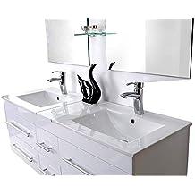 Amazon.fr : ensemble meuble vasque miroir salle bain - Espace-Insell
