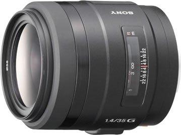 Sony 35F14G Lente de cámara Digital con Montura Tipo A - Objetivo (MILC/SLR, 10/8, Objetivo Ancho, 0,3 m, Sony A, 3,5 cm)