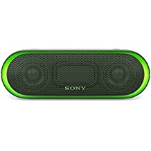 Sony SRS-XB20G - Altavoz inalámbrico portátil (Bluetooth, NFC, Extra Bass, 12h de batería, Wireless Party Chain, luz lineal) color verde