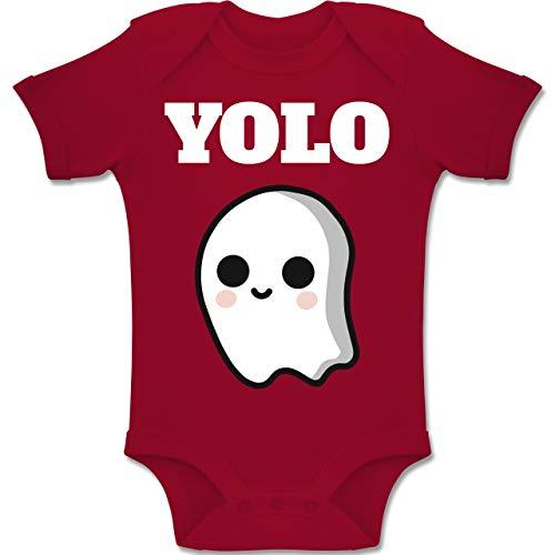 Shirtracer Anlässe Baby - Geist YOLO Motiv - 3-6 Monate - Rot - BZ10 - Baby Body Kurzarm Jungen Mädchen