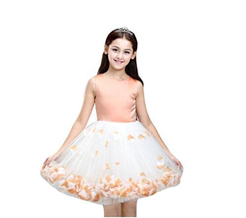 MYM abito da sposa abito costumi principessa dei bambini vestiti vestito di fiori d'arancio dei bambini femminili Puff , 120cm